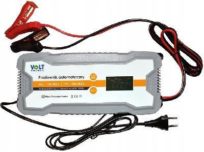 VOLT POLSKA 20A MAX 12V-20A/24V-10A LCD display (IP65) Universal charger lādēšanas ierīce