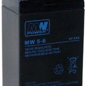 MW5-6 MWPower battery / AGM / 6V-5Ah / terminal T1-4.8 mm / L70 W47 H101 mm