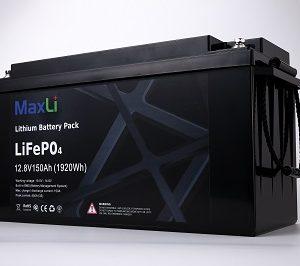 12.8V-150Ah Lithium battery MaxLi YS12-150 LiFePO4 (1920Wh) L485 W172 H240