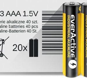 everActive Industrial LR03/AAA Alkaline batteries (iepakojuma 2 gab. shrink)